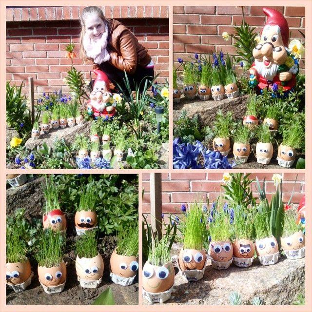 Happy Easter :D #easter #happiness #sunshine #garden #me #metoday #egg #grasshead #grass #smiley #chiapet #easteregg #home #lovely #homemade #nice #crafts #imaginate #PhotoGrid @kicsidudu