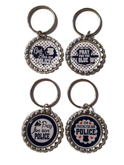 Police Key Chain, Pray For The Blue, God Bless Our Police, Police Officer Gifts, Police Gifts, Police Officer, Police Memorial