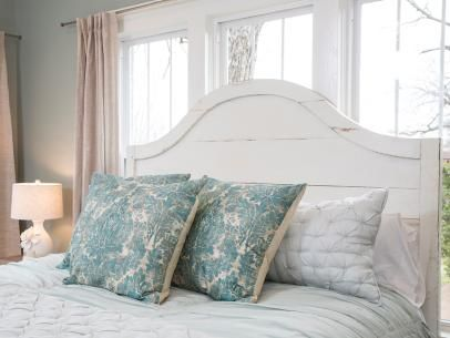 Curved Wooden Headboard