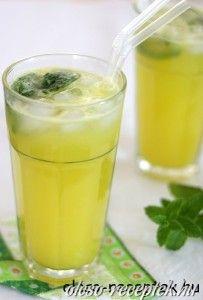 Ananászos narancsital citromfűvel  recept fotó