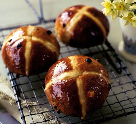 A bread mix makes these Easter hot-cross buns a simple treat to knock up