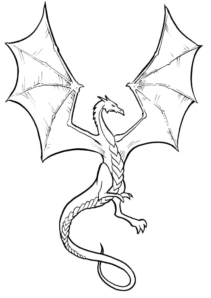Dragon Coloring Pages To Print AZ Coloring Pages