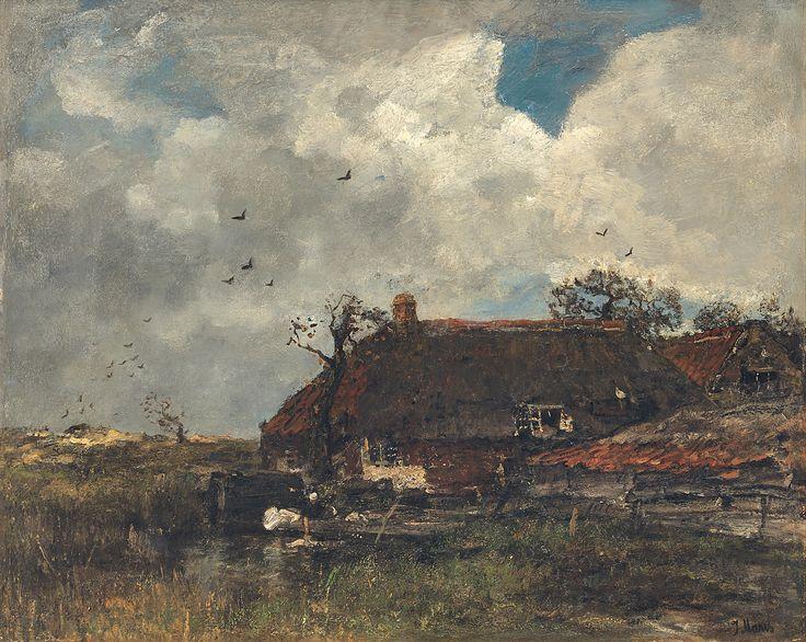 ''La Chaumiere, ca. 1885'' Olieverf op doek Jacob Maris