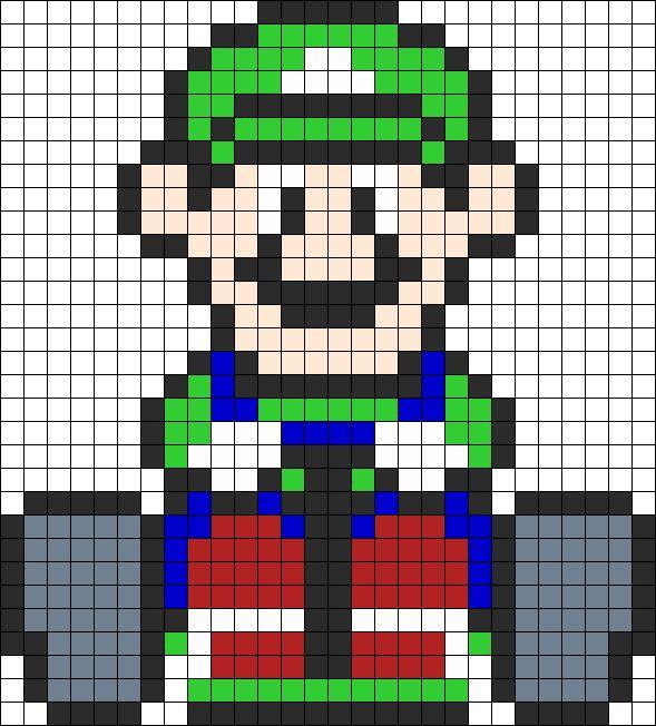 sandylandya@outlook.es Luigi Mario Kart Perler Perler Bead Pattern | Bead Sprites | Characters Fuse Bead Patterns