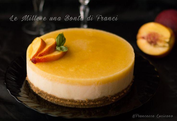 Cheesecake+allo+yogurt+greco+e+pesca+noce