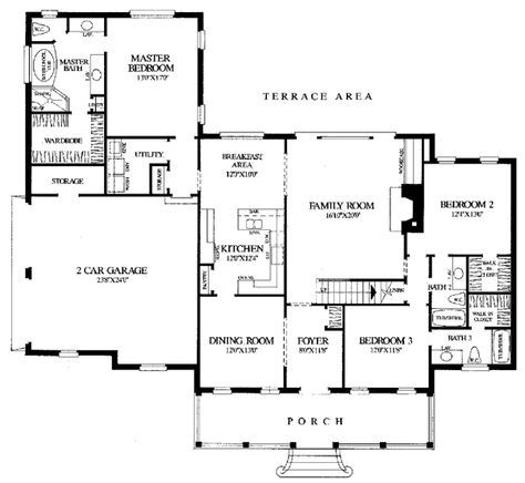 First Floor Plan of Traditional   House Plan 86137