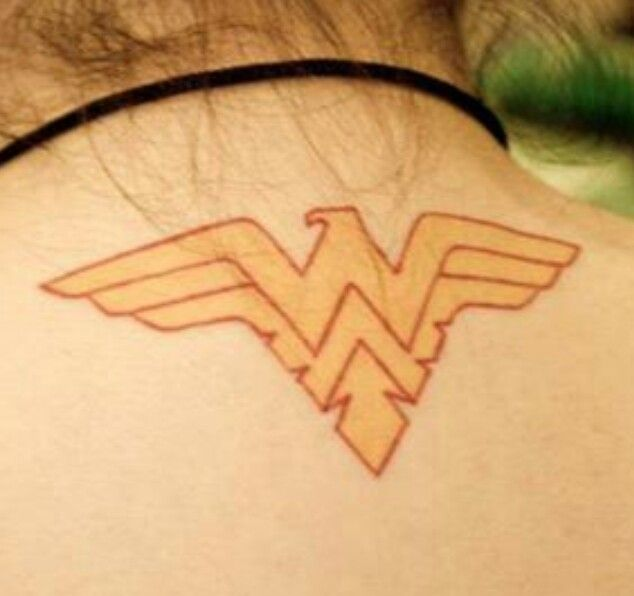 This is my comic inspired tattoo. I created a mixture between the DC Wonder Woman symbol and the Marvel Phoenix symbol.