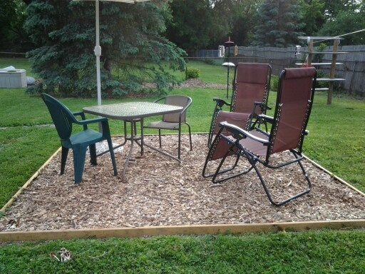 Landscape Fabric Under Deck : Outdoor space made with deck boards landscaping