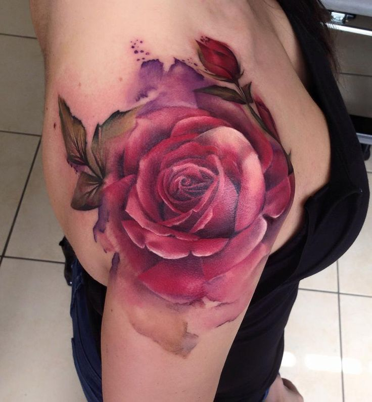 Ooh love this tattoo!!  Love the watercolor style & beautiful colors...  Definitely one if a kind