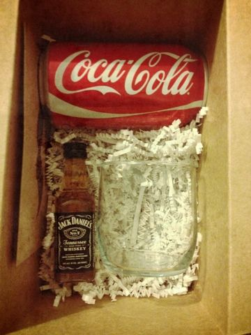 Ask your groomsmen in a creative way. Jack + Coke with a Rocks Glass
