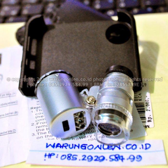 Nama Barang : Mikroskop Mini untuk I-Phone (pembesaran hingga 60X) berikut Detektor Uang Palsu | Kode SKU Barang : A0054 | Kode Aproval : V-...