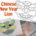 I made this for introducing a book about Chinese new year.  We enjoyed coloring the lion with colored sand....