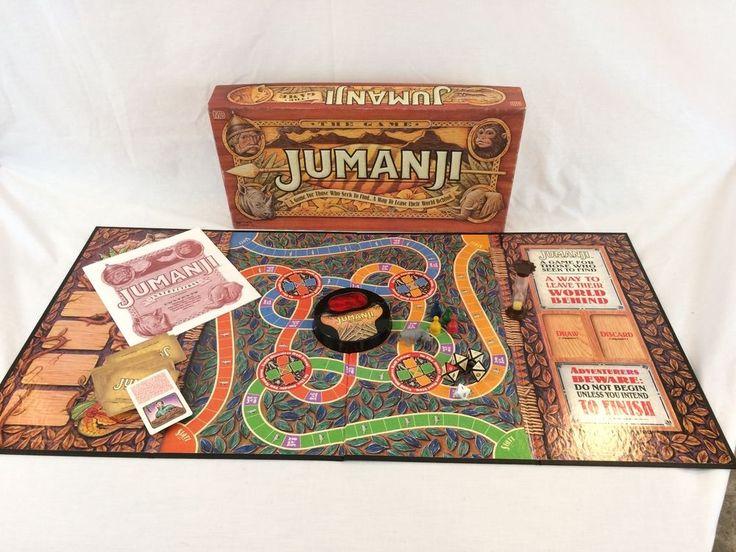 Jumanji Movie Board Game 100% Complete Milton Bradley 1995 Vintage #MiltonBradley