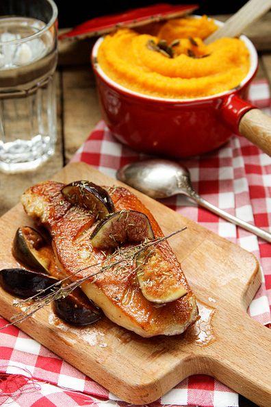 Magret de canard aux figues et miel