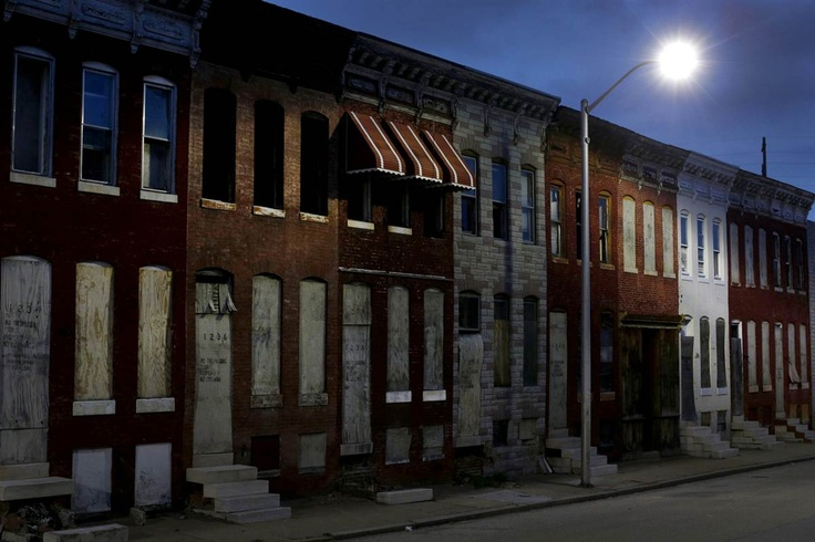Row Houses In Baltimore Md : Abandoned row houses in baltimore md the light is on but
