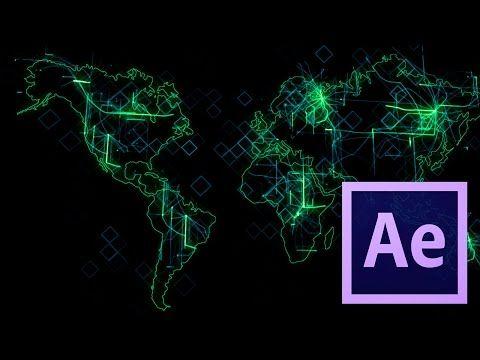 Tutorial Mapa Digital (Grid) - After Effects - YouTube