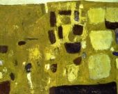 William Scott, Yellow Still Life, 1958, Oil on canvas, 101.6 × 127 cm / 40 x 50 in, Museu Colecção Berardo, Sintra, Lisbon