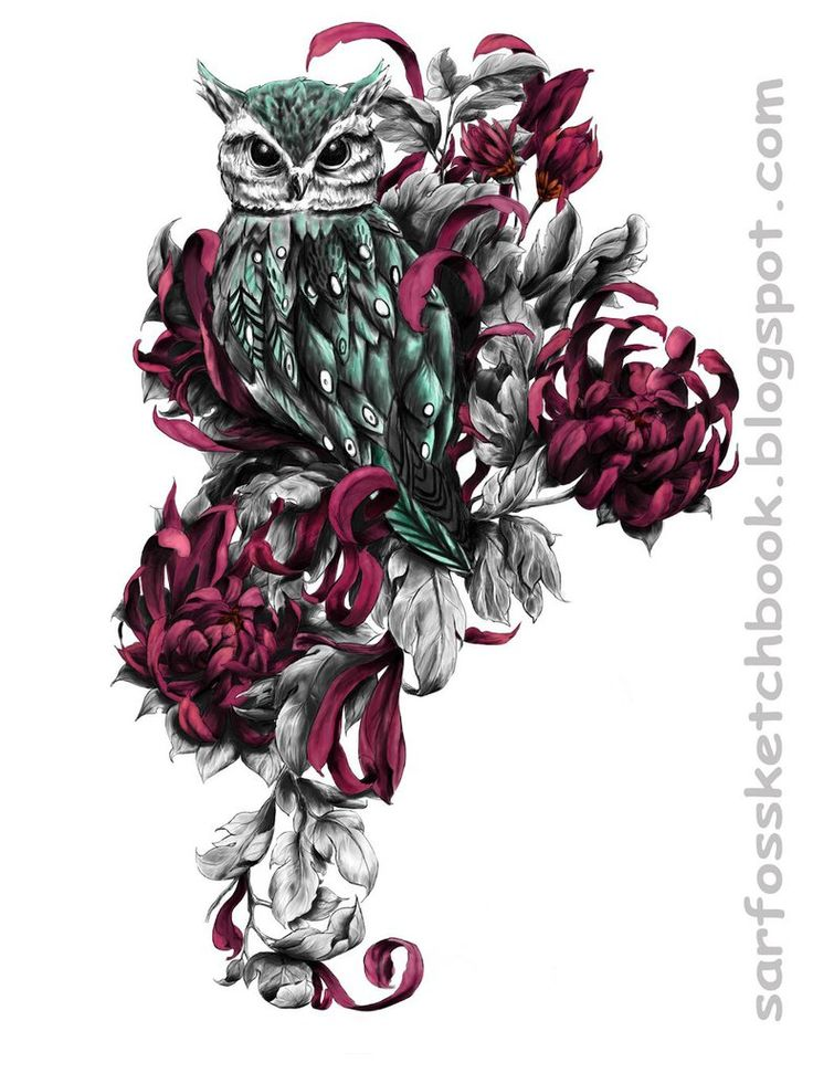 Owl Tattoo Design 01 by Sarfo - Inspiration