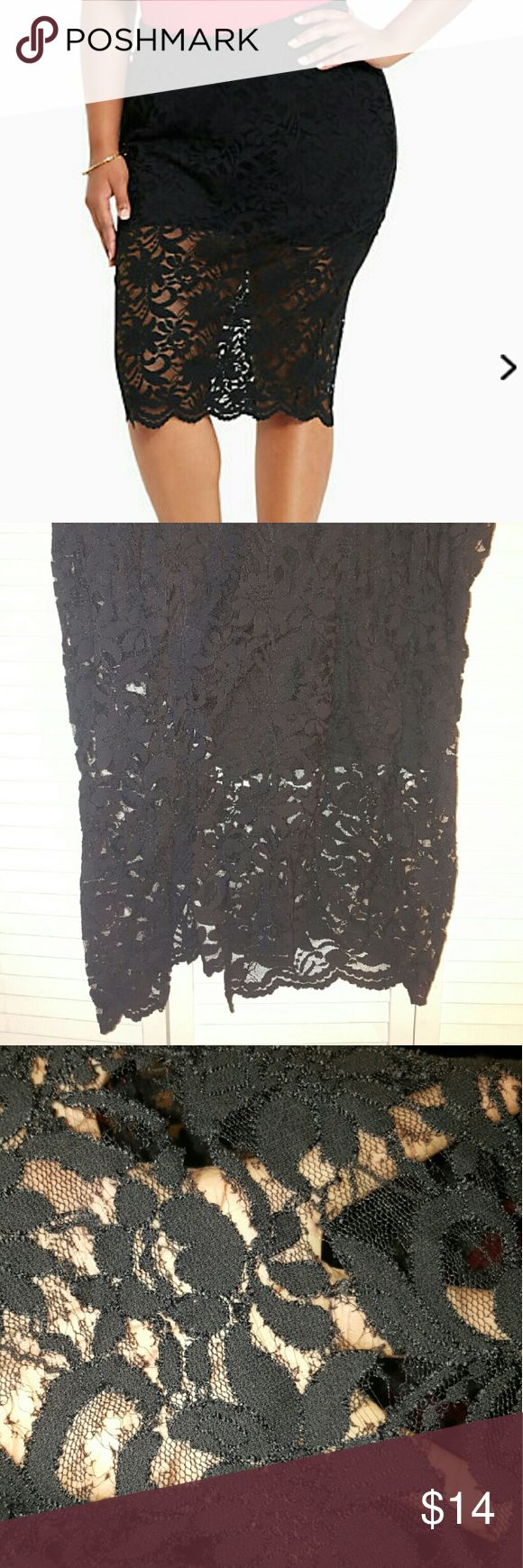 Lace Pencil Skirt 22 torrid used torrid size 22 skirt a few rips in lace not noticeable. torrid  Skirts Pencil