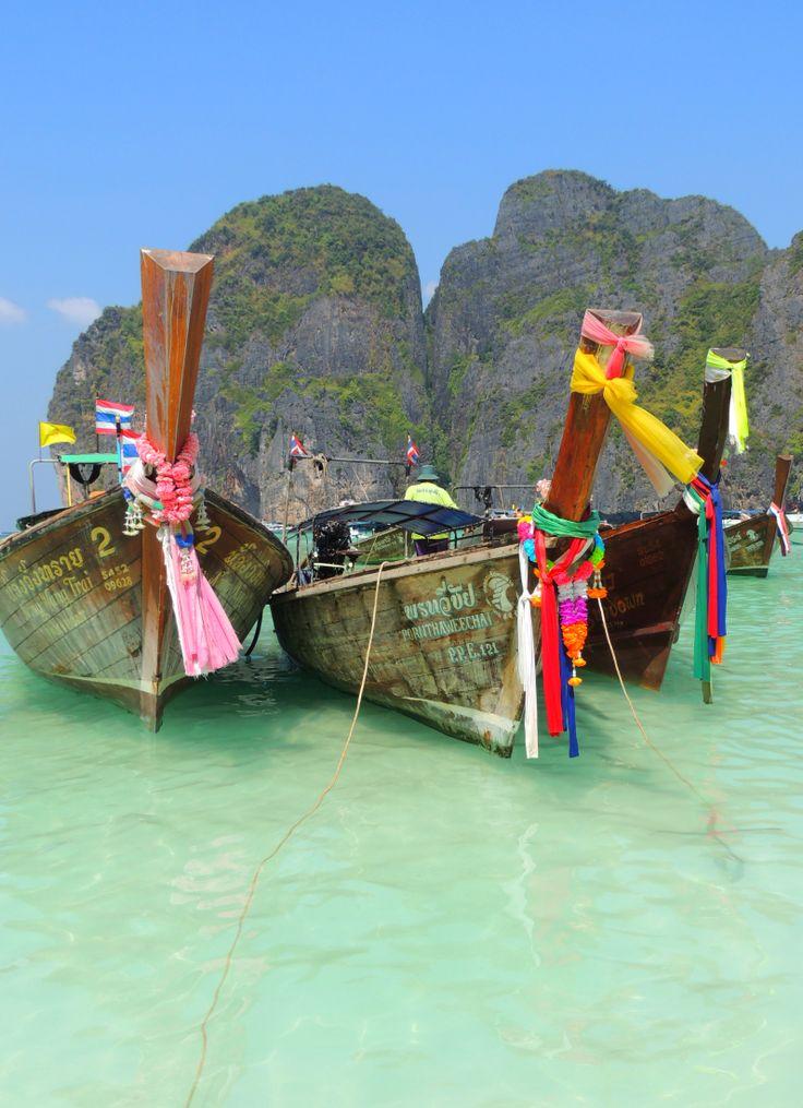 thai boats & colors Koh Phi Phi Lee @ Thailand
