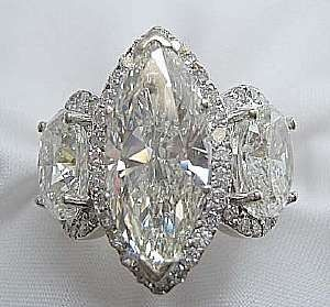 Diamond Marquise Ring. Breathtaking! You can see the Rest of the Outfit and my Remarks on this board. - Gabrielle