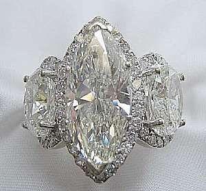 marquise ring settings side diamonds | Diamond Marquise Rings