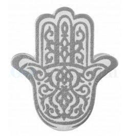 SANTEX 4107-4, Sachet de 6 Mains de Fatma sur pince en bois, argent
