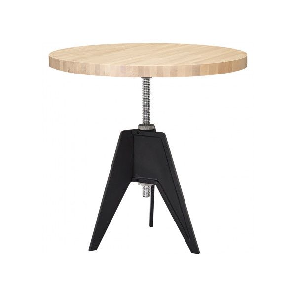 Tom Dixon Screw Cafe Table Peg Top Small - Birch (1 860 AUD) via Polyvore featuring home, furniture, tables, birchwood furniture, birch wood table, birch table, tom dixon and top table