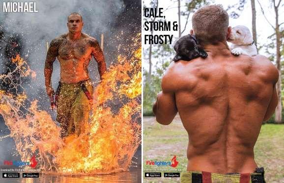 Australian Firefighters smoulder in 2017 calendar shoot - Firefighters Calendar