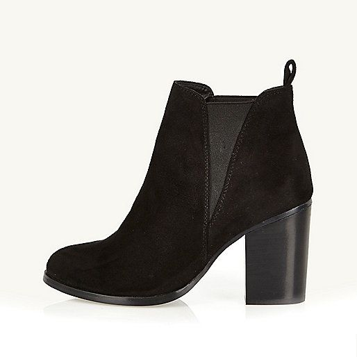 Black heeled Chelsea boots - ankle boots - shoes / boots - women