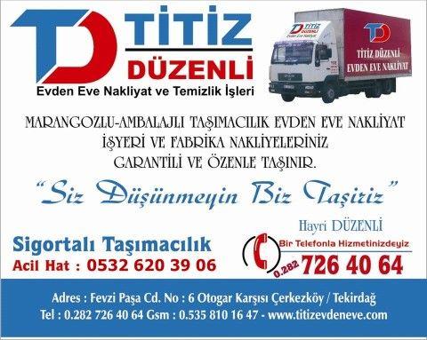 Çerkezköy Nakliyat Firmaları, Ev Taşıma