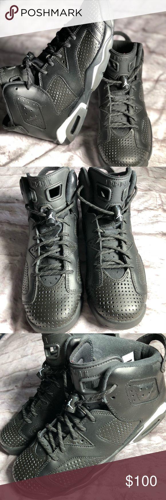 Air Jordan 6 Retro GS 'Black Cat' 6.5Y | 8 Women's *Great like new condition* 100% Authentic Jordan Shoes Sneakers