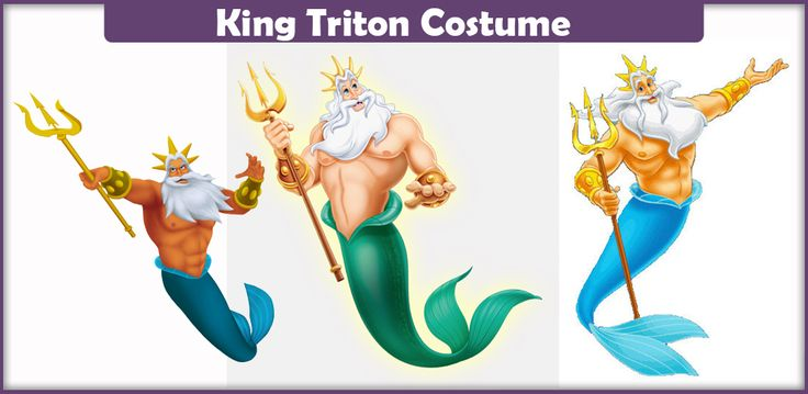 The best guide on making a King Triton Costume from the Disney movie. Here you will find a list of everything you need to make an accurate costume!