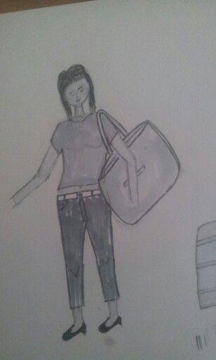 Women with big shopping bag ;)