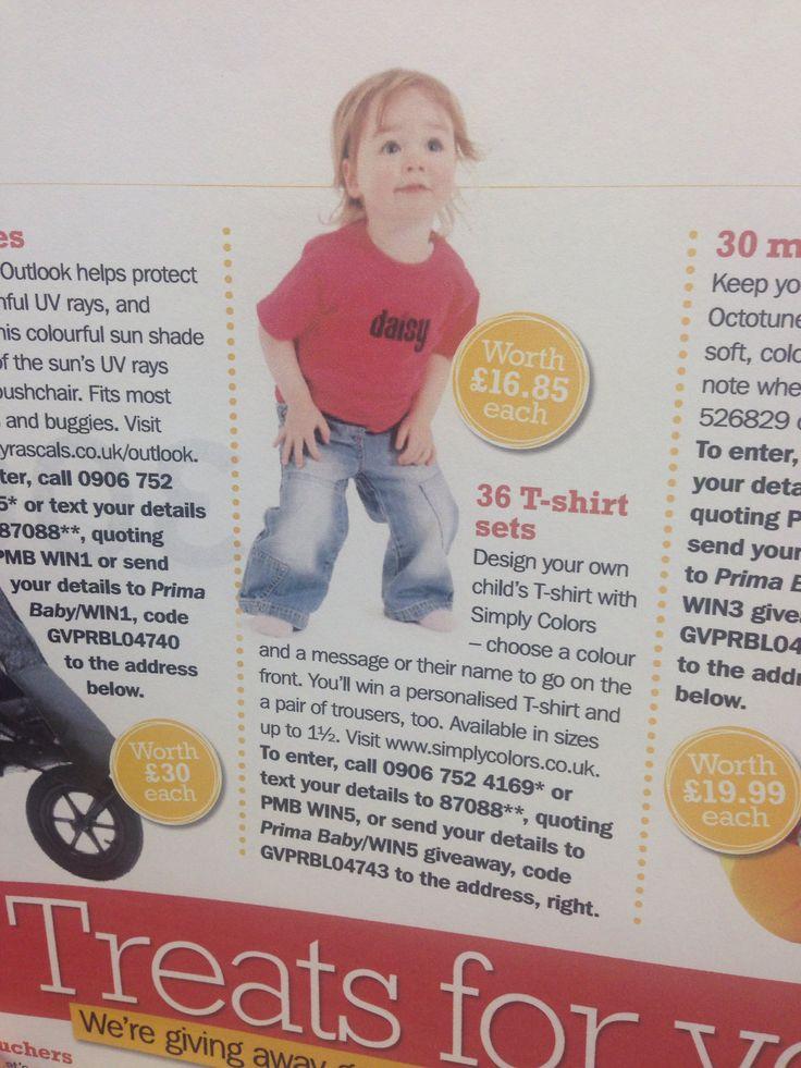 "Daisy Tshirt as featured in ""Mother and baby"" magazine"
