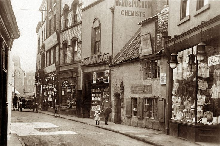 This image taken circa 1918 by an unknown photographer, is evidence for that the Misses Scott by now had moved their shop for a third time to more spacious premises. At this location – 30 Baxtergate – the establishment had useful large-sized shop windows with plenty of room for showing off their assortment of children's clothes, ladies hats etc. It is however unclear for how long the ladies and children's outfitter existed in town. (Private ownership).