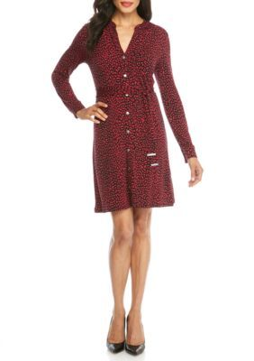 Michael Michael Kors Women's Cheetah Dress - Raspberry - Xs