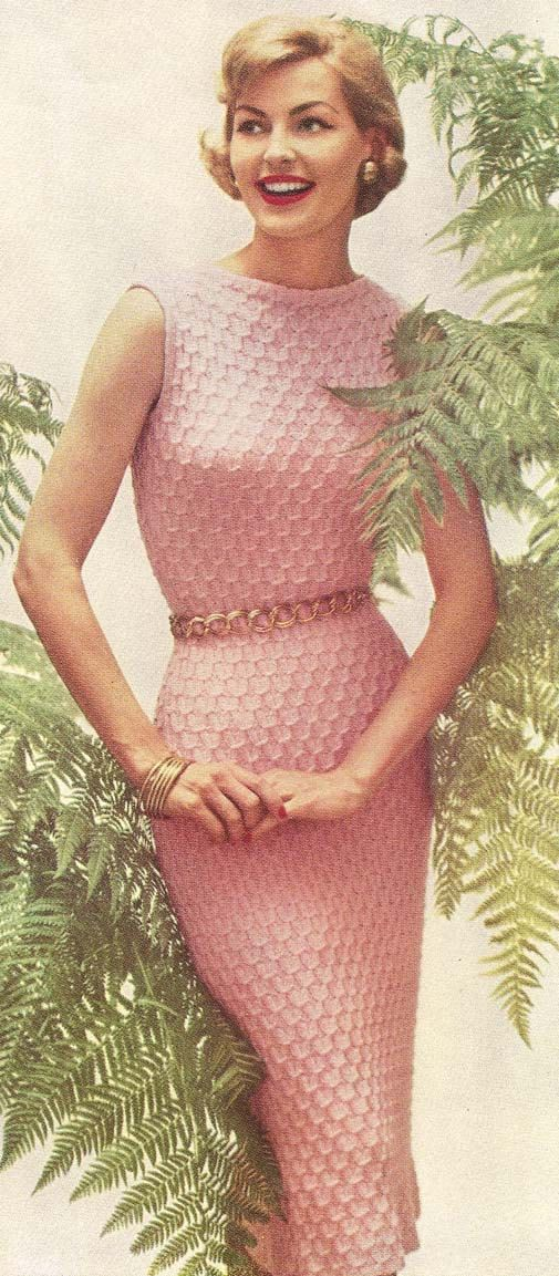 1950's Lovely Dress Vintage Knitting Pattern
