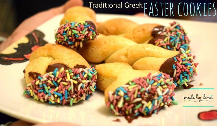 TRADITIONAL GREEK EASTER COOKIES | a modern version | tasty and crunchy | made by demi