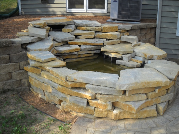 25 best images about pond ideas on pinterest for Garden pond edging stones