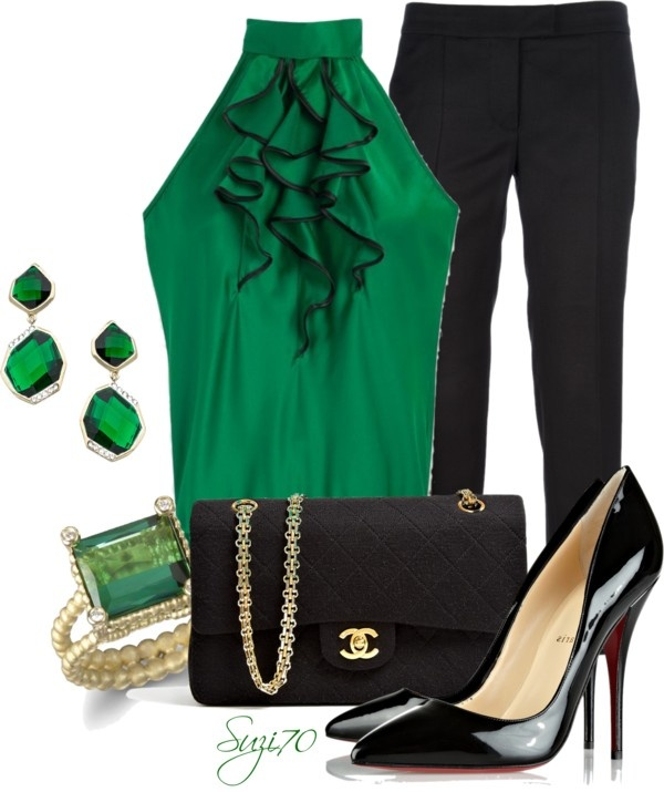 """""""Emerald Green"""" by suzi70 ❤ liked on Polyvore"""
