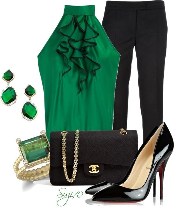 "Pinterest Woman Emerald: ""Emerald Green"" By Suzi70 Liked On Polyvore"
