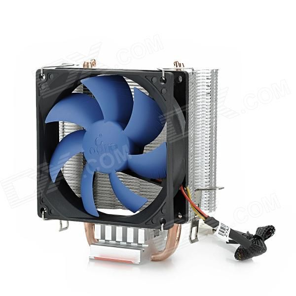 aigo M4 CPU Cooler for LGA 1366 / 1156 / 775 / AMD AM2 / 754 / 939 / 940 - Black. Brand aigo Model M4 Color Black Quantity 1 Material Aluminum + Copper Application CPU cooler Fan Size Support LGA 1366 / 1156 / 775; AMD: AM2 / 754 / 939 / 940 cm Noise Level 2500 + 10% dBA Power Connector 21db + 10% Others Fan diameter: 8.5c; Alloy bearing; Voltage: DC 12V; Life: 30000 hours; Support LGA 1366 / 1156 / 775; AMD: AM2 / 754 / 939 / 940 Packing List 1 x CPU cooler 1 x Base 1 x Pack of buckles 1 x…