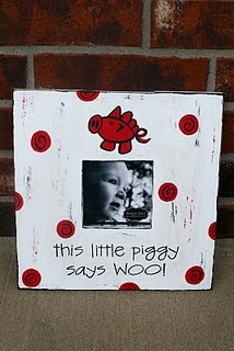 This Little Piggy Says WOO!  Not my thing, but cute for my WPS friends...:-): Shower Gifts, Gifts Ideas, Pigs Sooie, Arkansas Razorbacks, Woo Pigs, Baby Razorbacks, Baby Frame, Pictures Frames, Baby Shower