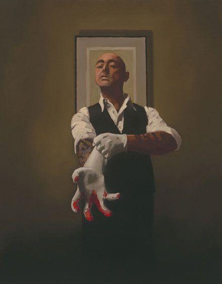 """Jack Vettriano """"The Master Tattooist"""" {oil on canvas}"""