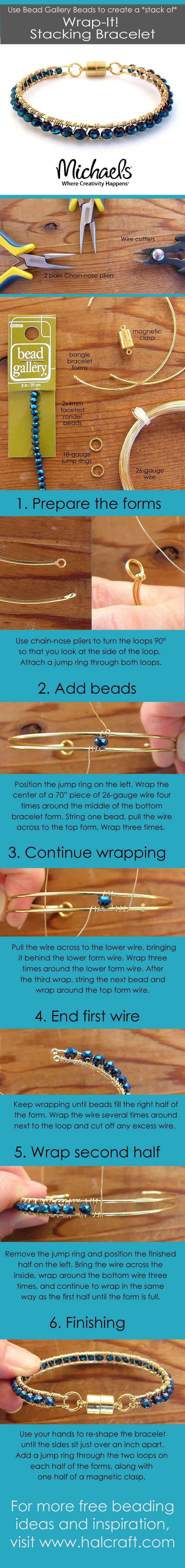 nice DIY Bijoux - Monday Make :: Wrapped Bracelets - Halcraft USA