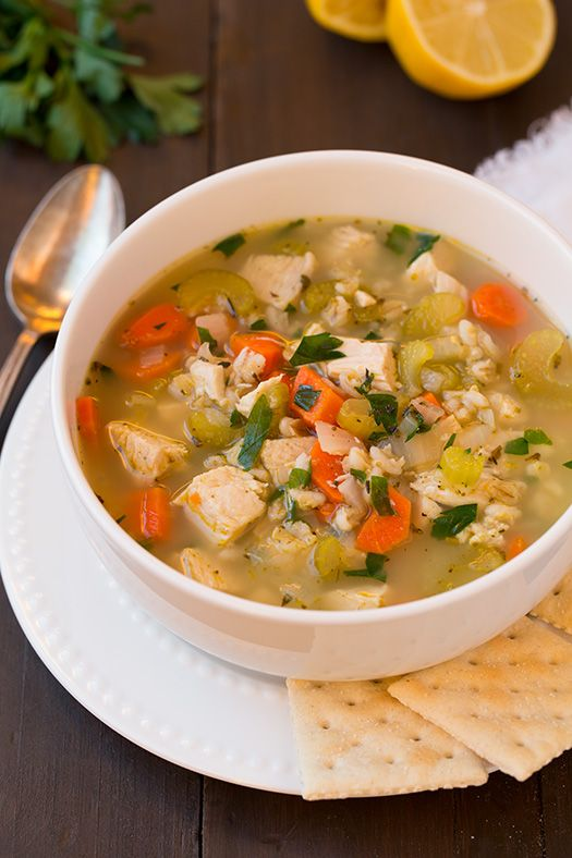 Chicken and Barley Soup - Cooking Classy