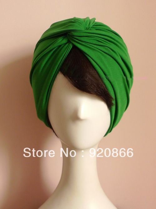 DIY Vintage style green comfortable big headband cotton turban hats-in Skullies & Beanies from Apparel & Accessories on Aliexpress.com