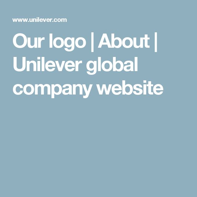 Our logo | About | Unilever global company website