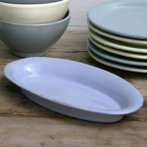 CASAgent Campagna Servierplatte oval lavanda Keramik Servierteller lila